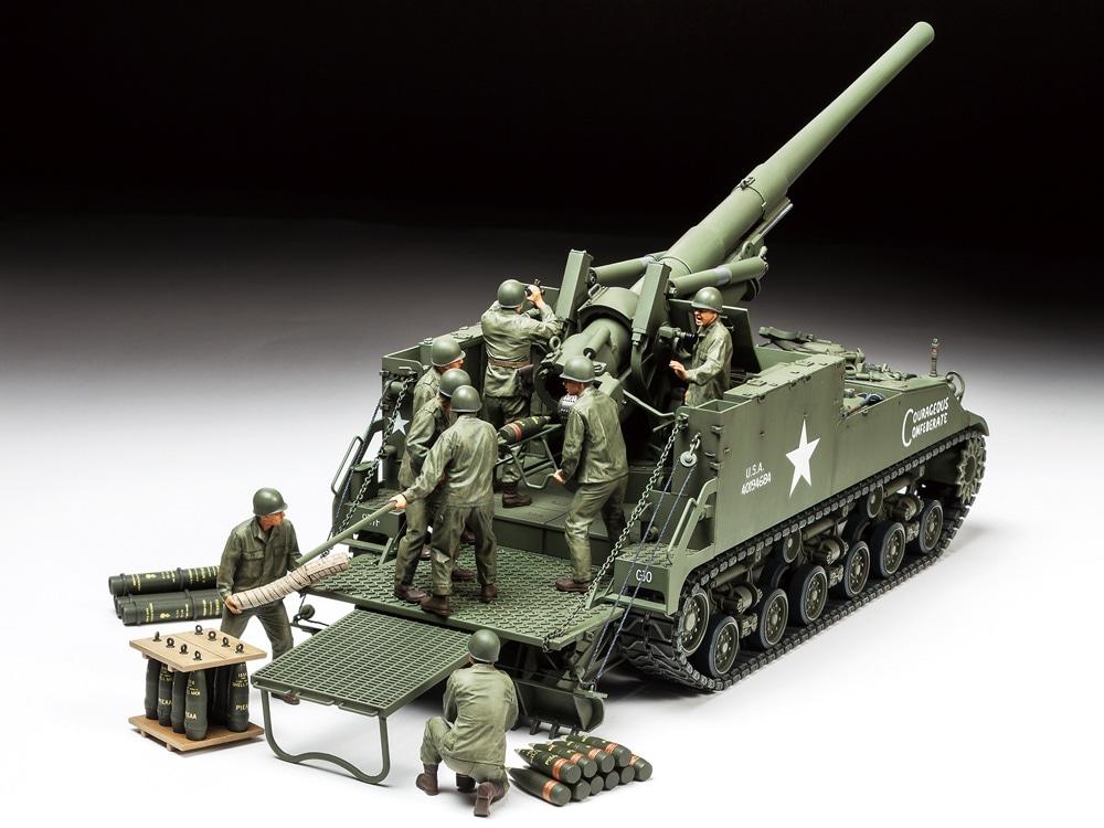 タミヤ 1/35 ミリタリーミニチュアシリーズ アメリカ 155mm自走砲 M40 ...